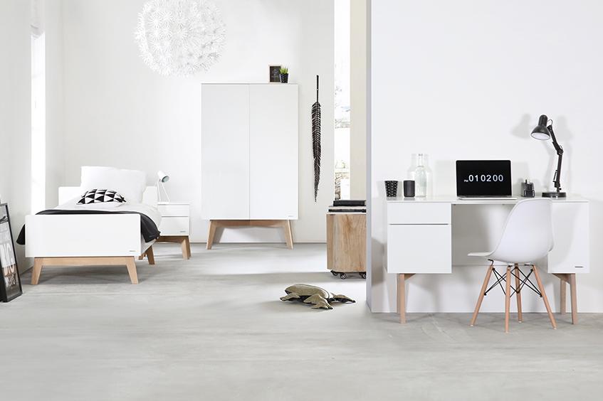Sixties Blanc / Chêne naturel