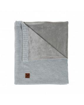 Knitted Gris - Blanchet lit bébé