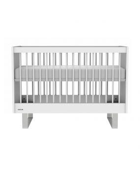 Intense Blanc / Acier inoxydable - Lit 60x120