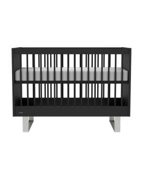 Intense Noir / Acier inoxydable - Lit 60x120