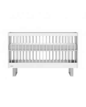 Intense Blanc / Acier inoxydable - Lit 70x140