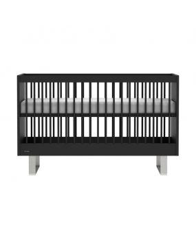 Intense Noir / Acier inoxydable - Lit 70x140