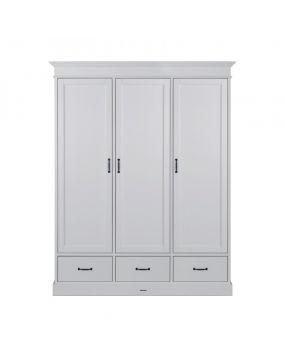 La Première White / White - Wardrobe (3 doors)