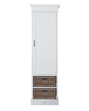 La Première White / Rattan - Wardrobe (1 door)
