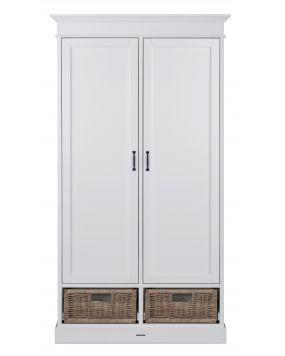 La Première White / Rattan - Wardrobe (2 doors)