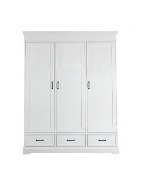 Savona Blanc sans croix - Armoire (3 portes)