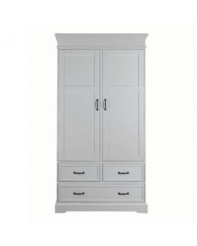 Savona Blanc sans croix - Armoire (2 portes)