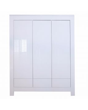 Somero Blanc / Brillant - Armoire (3 portes)